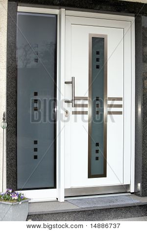 Modern Front Door With Glass Panes