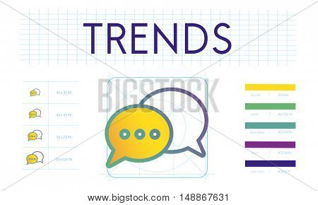 Trends Interact Connection Discussion Concept