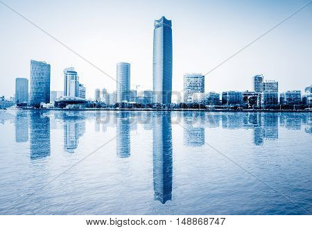 guangzhou central business district,china.