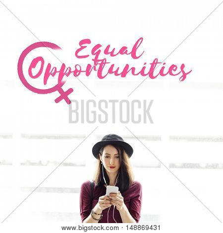 Music Rights Girl Power Equality Concept