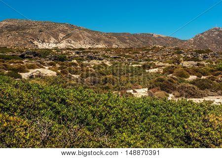 Crete, Greece: landscape next to the beach in Elafonisi