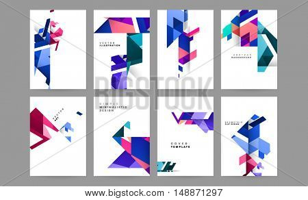 Futuristic Geometric concept abstract background for business solution / EPS10