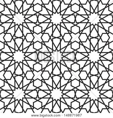 Moroccan stars seamless pattern. Traditional islamic ornament