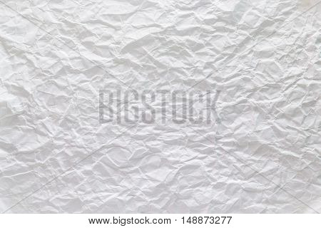 A Texture photo of white crumpled paper