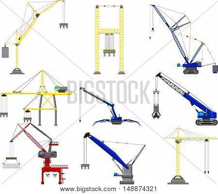 set of Construction crane for you design