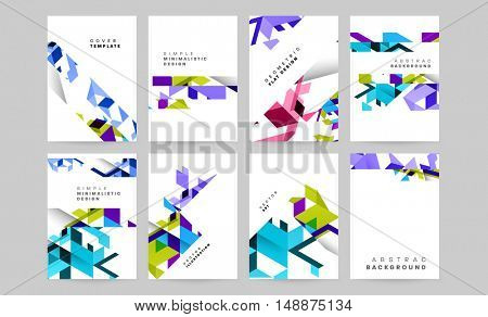 hi-tech geometric patterns collection, Business Covers Trendy Backgrounds with polygonal triangle patterns design set / EPS10 vector illustration