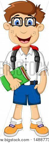 funny a student cartoon go to school