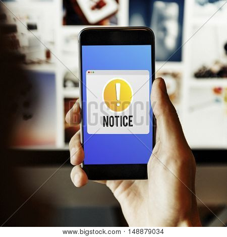 Notice Notification Alert Exclamation Point Concept