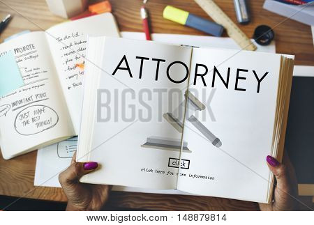 Attorney Balance Court Document Judge Lawyer Concept
