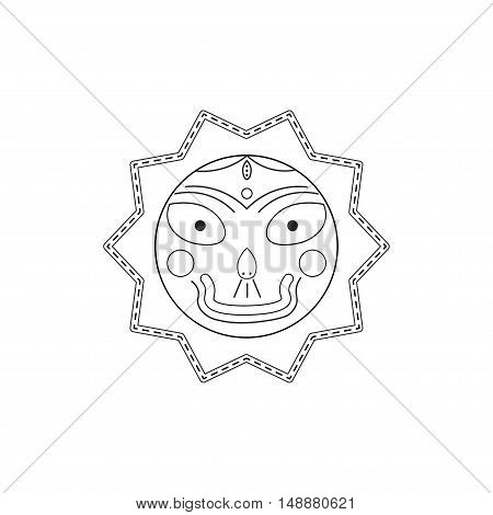 Jagannath Balabhadra Subhadra. linear futuristic icons. vector illustration.