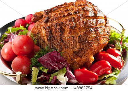 Baked Meat with Freshness Vegetables