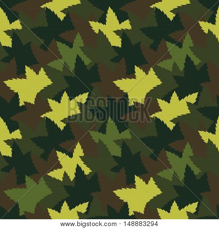 Cute bright seamless pattern background with camouflage colored pieces. Vector illustration eps 10