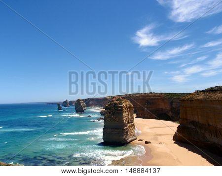 A view of the Twelve Apostles, Victoria, Australia