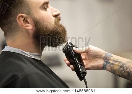 Professional Beard Grooming At Barbershop
