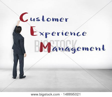 Customer Management Experience Meeting Concept