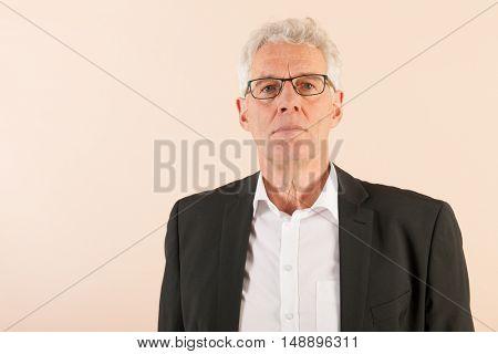 Formally dressed Senior business man