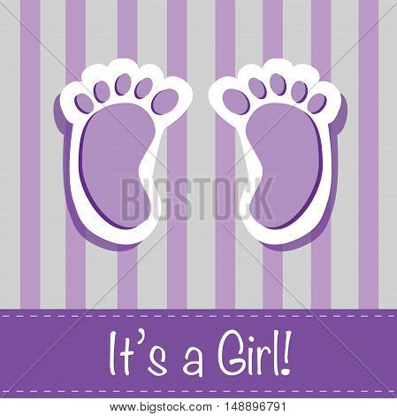 It's a Girl Feet Baby Shower Invite