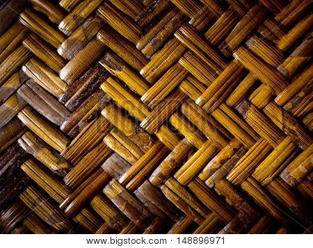 Detail of weave furniture / Bamboo weave texture