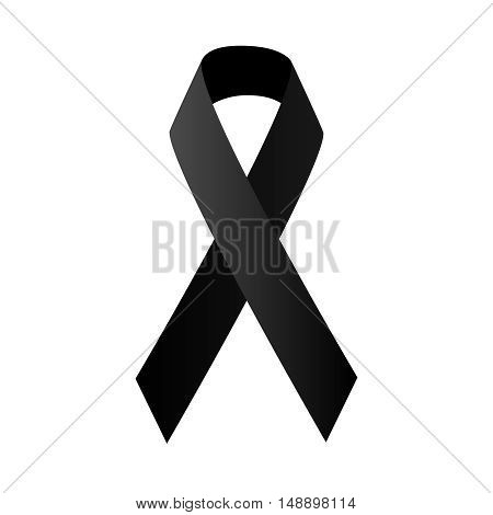 symbolic black ribbon vector stock illustration, EPS10