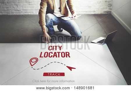 Navigation GPS City Locator Explore Concept