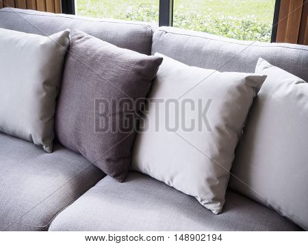 Sofa with pillows Minimal style Home Interior decoration