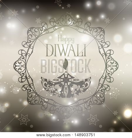 Decorative background for Diwali celebration