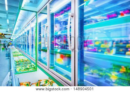 Refrigerator in the supermarket
