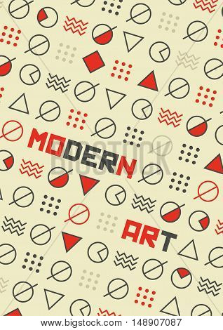 Abstract Modern Art Poster & geometric background.
