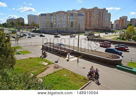 Moscow, Russia - September 01.2016. Zelenograd with views of a courthouse