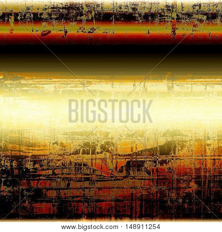 Vintage torn texture or stylish grunge background with ancient design elements and different color patterns: yellow (beige); brown; gray; green; red (orange); black