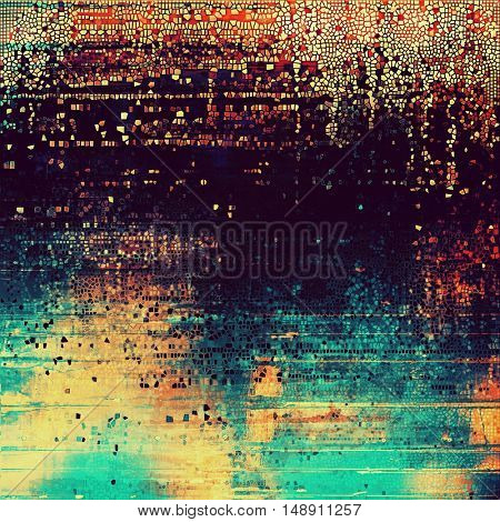 Vintage background in scrap-booking style, faded grunge texture with different color patterns: yellow (beige); blue; red (orange); purple (violet); pink; cyan