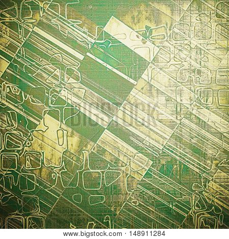 Geometric old background with grunge decorative elements. Retro composition for your design. With different color patterns: yellow (beige); brown; gray; green; white