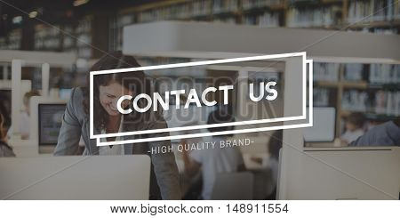 Contact Us Customer Support Enquiry Hotline Concept