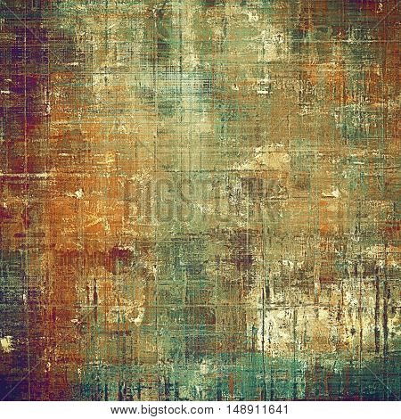 Vintage decorative texture with grunge design elements and different color patterns: yellow (beige); brown; gray; green; red (orange); purple (violet)