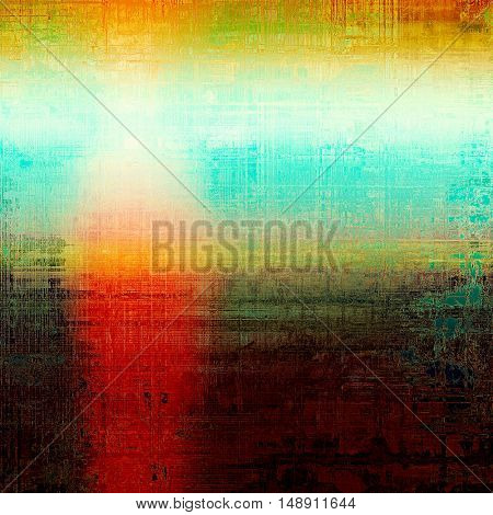 Abstract grunge background or damaged vintage texture. With different color patterns: yellow (beige); brown; green; blue; red (orange)