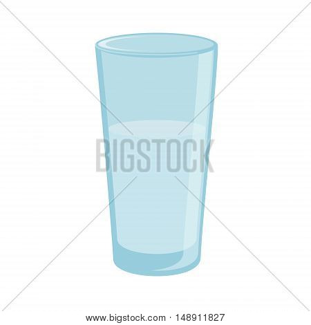 Vector illustration drinking water. Glass of clean water. Glass icon flat design. Glass of water. Aqua