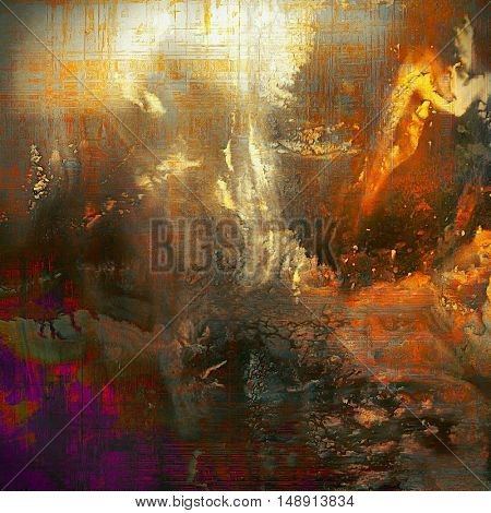 Abstract vintage colored background. With different color patterns: yellow (beige); brown; gray; red (orange); purple (violet)