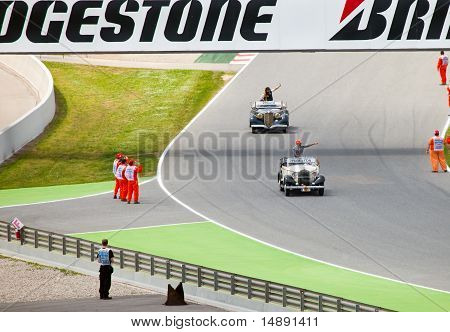 parade of pilots before a stage of race the Formula 1 Grand Prix
