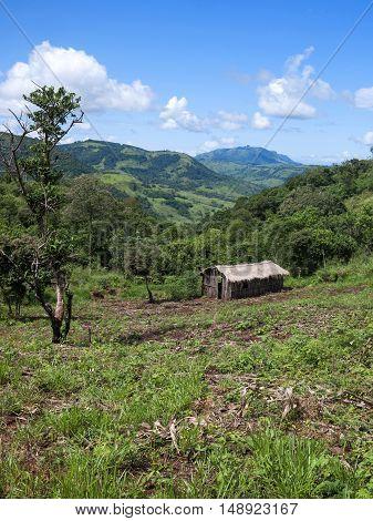 Brazilian indian land mountain sky plantation Londrina Tamarana