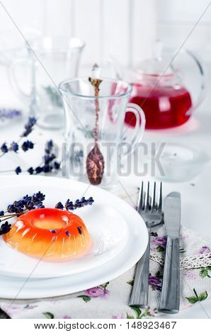 Colorful Fruit Jelly Sweets On A White Plate