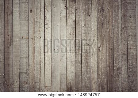 Vintage tone of old wood wall, a blank space for text