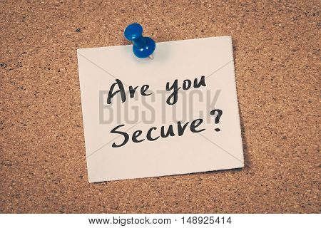 Are you secure? note on a bulletin board
