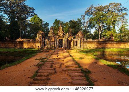 Ancient Khmer temple Koh Ker in Angkor region near Siem Reap, Cambodia