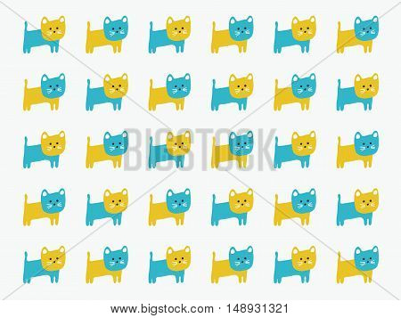 Cute Cat pattern for decoration, vector illustration