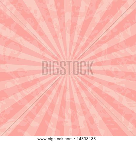 Vintage retro background with rays in shades of red.