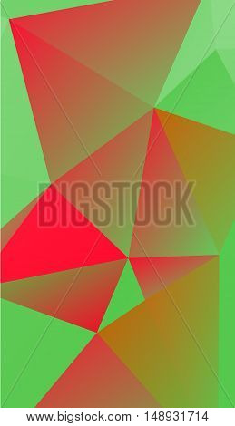 red, green polygonal illustration background texture .