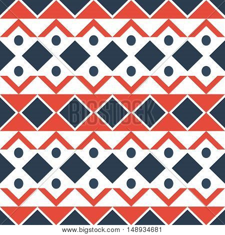 Geometric Ethnic Oriental Seamless Pattern Traditional Design For Background.