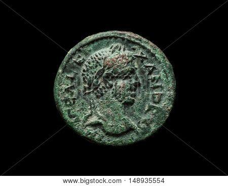 Ancient Copper Roman Coin Of Emperor Alexander
