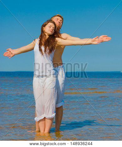 Couple Together Honeymoon
