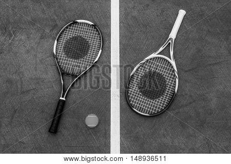 Racket Tennis Ball Sport Equipment Concept